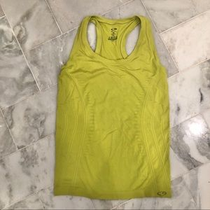 💜Champion lime green racer back tank top